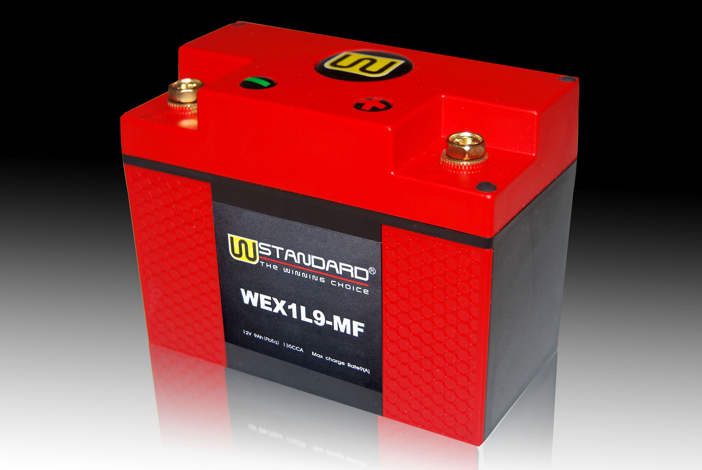 02-W-STANDARD Motorcycle lithium battery WEX1L9-MF Start the power supply 9Ah