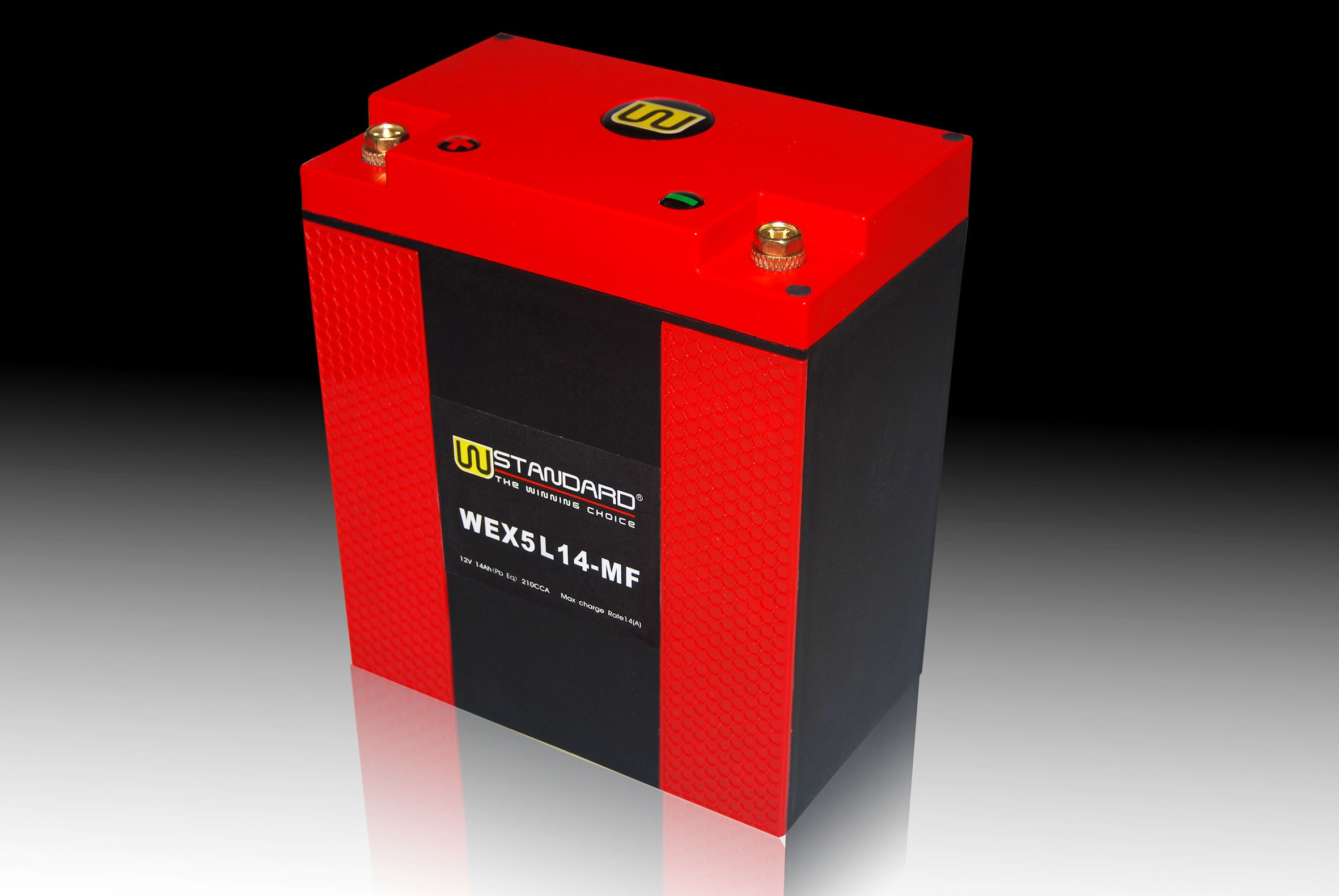 06-W-STANDARD Motorcycle lithium battery WEX5L14-MF Start the power supply 14Ah