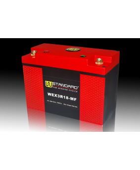 05-W-STANDARD摩托车锂电池WEX3R18-MF启动电源18Ah
